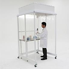 4'W x 4'D Portable CleanBooth ISO 5 Enclosure