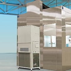 Cleanroom Air Conditioning Module Mounted to SS BioSafe Cleanroom
