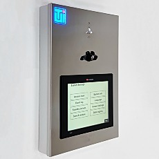 Cleanroom control panel with touchscreen and automated environmental monitoring and control