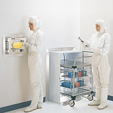 Plastic Cleanroom Pass-Through Chambers with Models