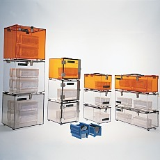 Stackable portable plastic desiccator dry box chambers