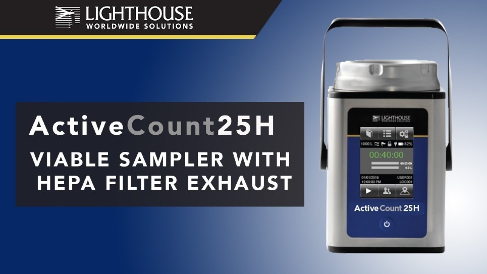 Lighthouse ActiveCount 25H Viable Microbial Air Sampler by LWS