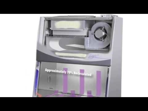 Short animation illustrating the airflow pattern of a Purifier Logic+ Type A2 biosafety cabinet