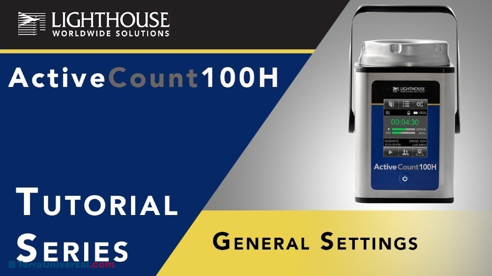 General Instrument Settings of Lighthouse ActiveCount 100H Viable Microbial Air Sampler by LWS