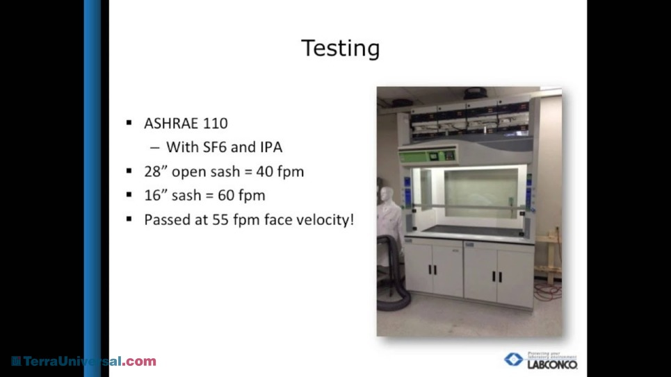 Video overview webinar by Labconco sales associate pitching the Protector Echo Filtered Fume Hood
