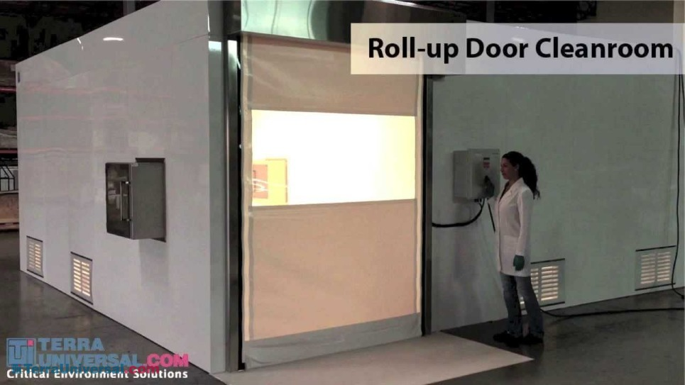 Video Demonstration of High-Speed Cleanroom Roll-Up Door