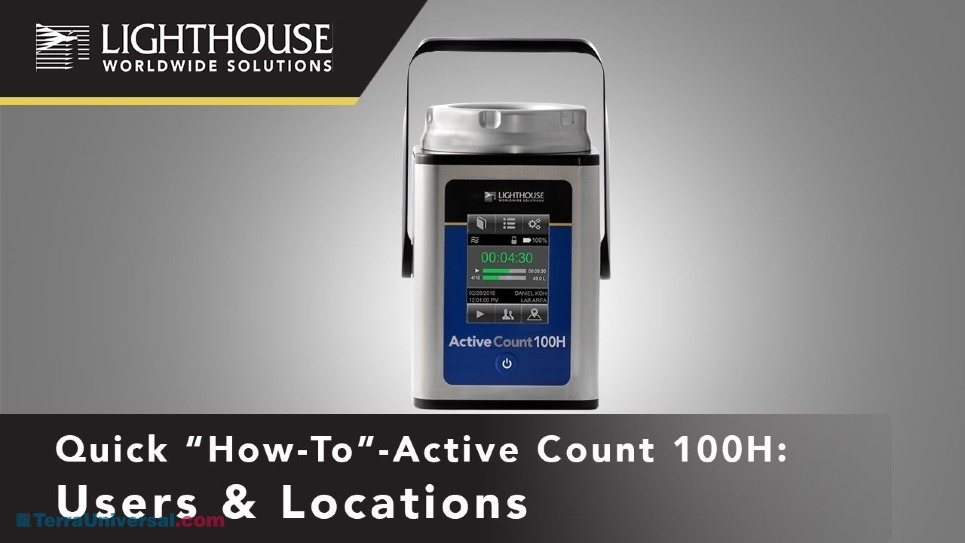 Assigning Locations & Users with Lighthouse ActiveCount Microbial Air Sampler by LWS