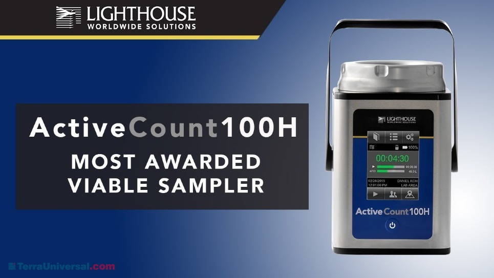Lighthouse ActiveCount 100H Viable Microbial Air Sampler by LWS
