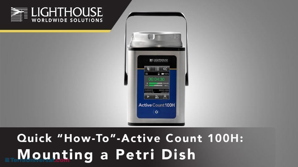 How to Remove the Petri Dish on Lighthouse ActiveCount Viable Air Samplers by LWS