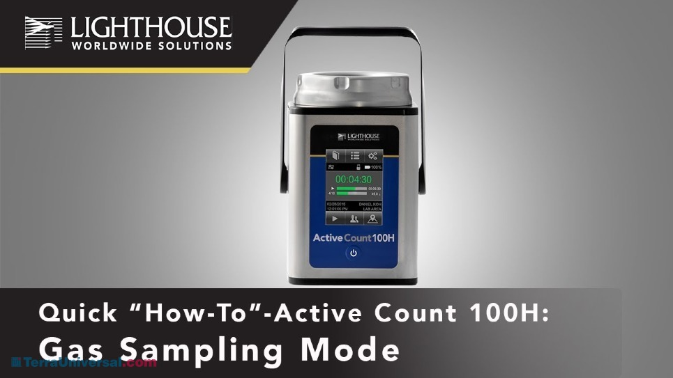 Gas Sampling Mode on Lighthouse ActiveCount Viable Microbial Air Sampler by LWS