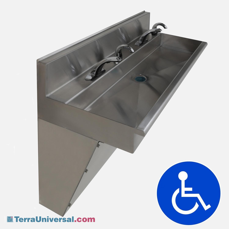 Biosafe Ada Wall Mount Cleanroom And Laboratory Sinks Terra Universal