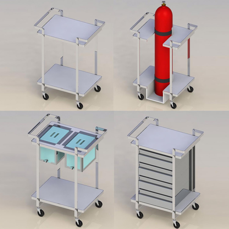 Versatile Cleanroom Service Carts