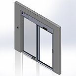 Pre-Hung Recessed Automatic Sliding Doors, Stainless Steel