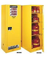 Chemical Storage; Blue, Deep Slimline Cabinet, Corrosive Liquid/Acid, Sure-Grip Ex, Self-Closing Single Door, Double-Walled Steel, Justrite