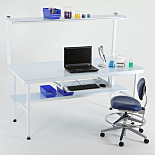 Chemical-Resistant Cleanroom Work Stations with Polypropylene Tops