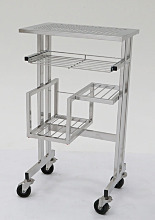 Cart; Cleanroom, Computer, Stainless Steel, 25.8