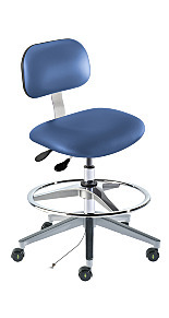 ISO 5 Ergonomic Cleanroom/ESD Chairs by BioFit