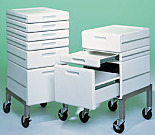 Mobile Drawers; Roll-around System; ABS Plastic