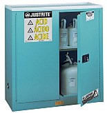 Chemical Storage; Floor Cabinet, Corrosive Liquid, Sure-Grip Ex, Self-Closing Double Door, Double-Walled Steel, 43