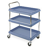 Deep Ledge Series Polymer Utility Carts by InterMetro