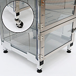 Universal Adjustable Base Stands for Desiccator Cabinets and Cleanroom Equipment