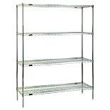 Pre-Configured Chrome Shelf Rack Systems by Eagle