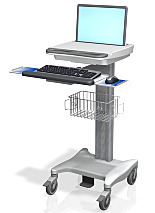 Cart; Medical, Mobile Desk, Roll Stand, Variable Height, GCX Corp.
