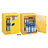 Justrite 890500 Sure-Grip Ex Benchtop Flammable Safety Cabinet; Manual Single Door, Double-Walled Steel, 21