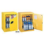 Justrite 890500 Sure-Grip Ex Benchtop Flammable Safety Cabinet; Manual Single Door, Double-Walled Steel, 21