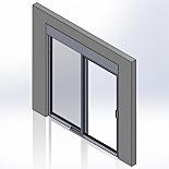 Pre-Hung Recessed Manual Slide Doors, Stainless Steel