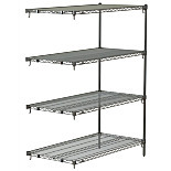 Metro Super Adjustable Super Erecta Industrial Wire Shelving Add-On Units, Chrome