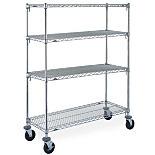 Metro Super Adjustable Super Erecta Industrial Wire Shelf Carts, Chrome