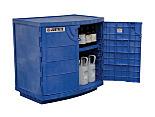 Justrite 24180 Undercounter Corrosive Acid Safety Cabinet; Manual Double Door, Polyethylene, 36