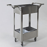 Stainless Steel Chemical Transport Cart; 40