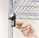 Replacement Sleeves and Wedges for Super Adjustable Wire Shelves, InterMetro