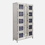 Desiccator; Double Doors w/ 10 Inset Doors, Stainless Steel, 48