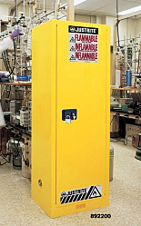 Yellow Slimline Safety Cabinets by Justrite
