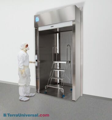 Saves valuable cleanroom floor space and features an electronic interlock. | 6705-30C displayed