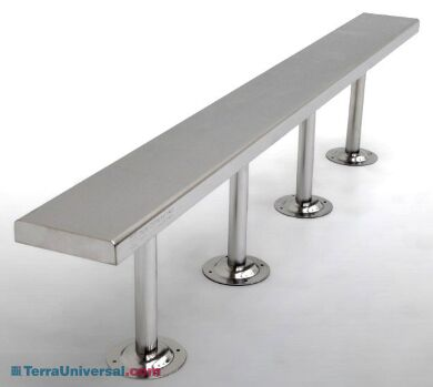 Solid Top Gowning Bench | 1530-19-2 displayed