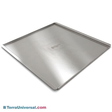 Stainless Steel solid desiccator shelf with lip | 1976-05 displayed