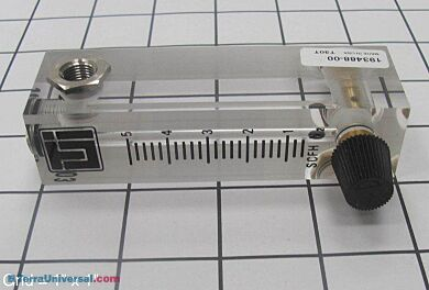 Nitrogen purge Flowmeter. | 1600-03 displayed