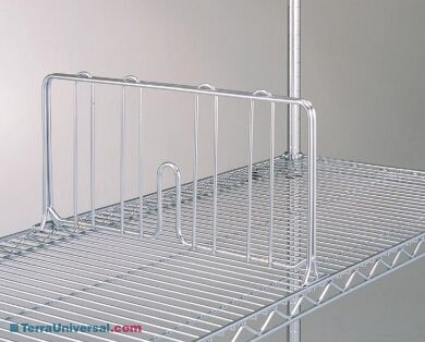 Chrome-plated dividers enhance organization and protect material from sliding across shelves during transit | 1301-86 displayed