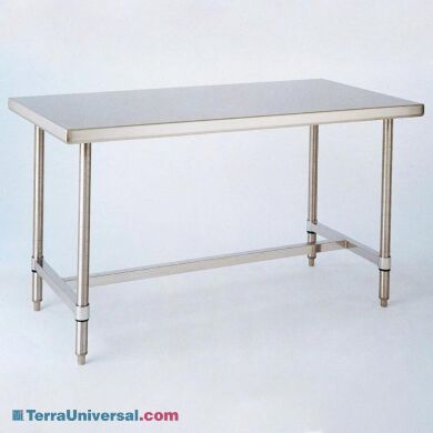 Solid-top 304 stainless steel cleanroom table from InterMetro | 1305-12 displayed