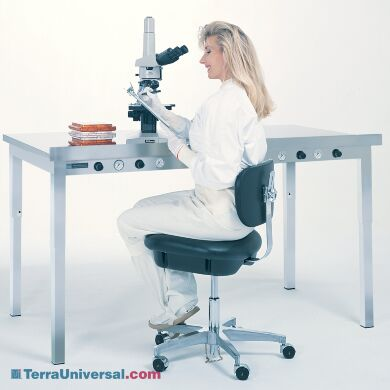 Pneumatic dampeners isolate work surface from building vibration; ideal for weighing and microscopy work (shown: 60
