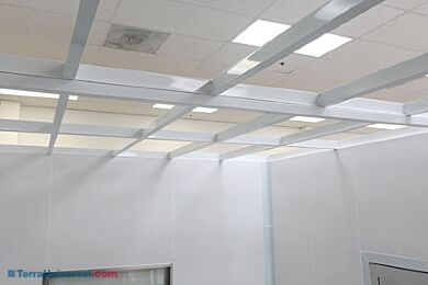 Cleanroom Ceiling Grid Structures And