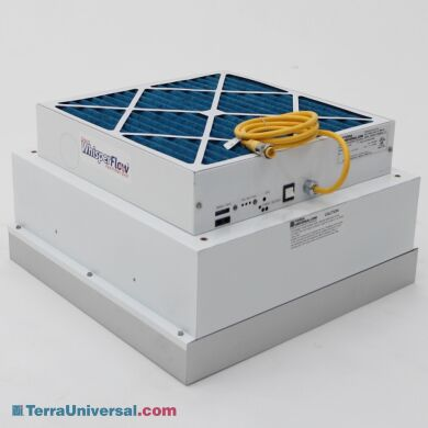 Smart Fan Filter Unit with EC motor meets low-energy requirements (2' x 2' model shown) | 6601-22-H-EC displayed