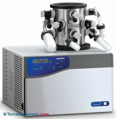 FreeZone 4.5L -105C Freeze Dryers by Labconco for low eutectic samples including dilute methanol and ethanol;