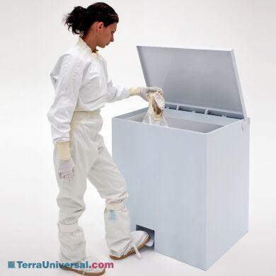 BioSafe Cleanroom Garment Hamper allows clean, easy disposal of soiled cleanroom garments | 5151-51A displayed