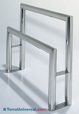 Stainless steel CleanLean™ offers dual supports to ensure safe, comfortable garmenting   9605-50 displayed