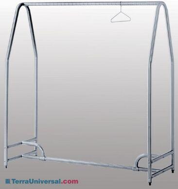 Electropolished Stainless Steel Free Standing Garmet Rack | 5656-34 displayed